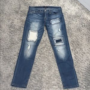 Flying Monkey Jeans with Cute Patches